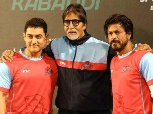 Big B with Aamir & Shah Rukh ( IANS pic)