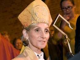 Australian Anglican bishop Kay Goldsworthy, during her consecration on May 22, 2008