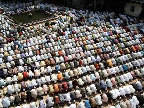 Eid prayers at Jama Masjid, Delhi (Courtesy:demotix.com)