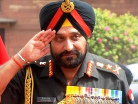 Indian Army chief General Bikram Singh