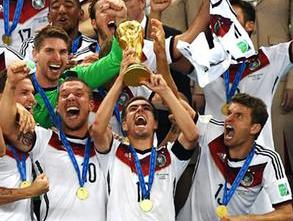 Germany players celebrating