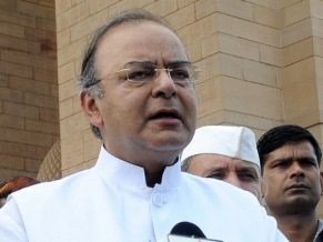 The Union Minister for Finance, Corporate Affairs and Defence, Shri Arun Jaitley addressing after laying wreath at Amar Jawan Jyoti, on the occasion of Kargil Vijay Diwas, in New Delhi on July 26, 2014.The Chief of Army Staff, General Bikram Singh, the Chief of Naval Staff, Admiral R.K. Dhowan and the Chief of the Air Staff, Air Chief Marshal Arup Raha are also seen.