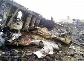 Malaysian Plane crash site ( Reuters)