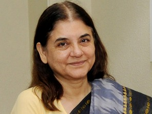 The Minister of Welfare and Tourism, Puducherry, Shri P. Rajavelu calling on the Union Minister for Women and Child Development, Smt. Maneka Sanjay Gandhi, in New Delhi on July 08, 2014.