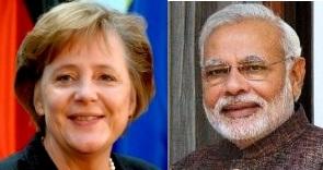 Angela Merkel- Narendra Modi