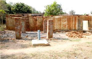 File photo of Dalit houses burnt by upper caste people in Ratakhandi village