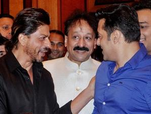 Shahrukh Khan,Baba Siddiqui,Salman Khan