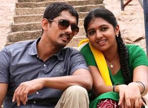 Siddharth with Laxmi Menon in 'Jigarthanda'