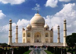 A spectacular view of Taj Mahal in Agra on July 16, 2014. (Photo: Pawan Sharma/IANS)