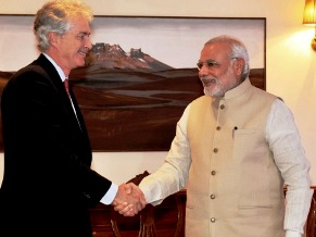 Burns calls on PM Modi, (PIB)