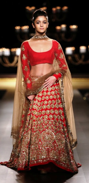 Alia Bhatt on the ramp