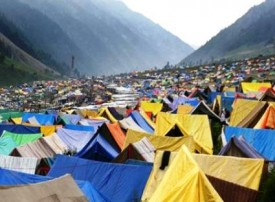 ( file pic of a pilgrims' camp )