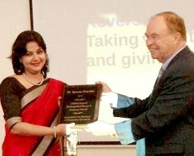 KIIT Award Prof Ms Satpathy