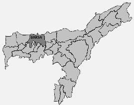 Assam Baksa district map