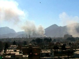 File shot of rocket attacks in Kabul