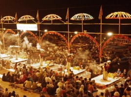 File pic of Ganga Aarti