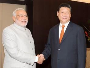 Modi with Xi Jinping (PIB pic)