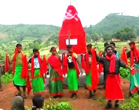 File pic of Maoist cultural troupe performing song and dance