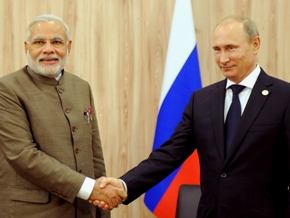 The Prime Minister, Shri Narendra Modi at a bilateral meeting with the President of the Russian Federation, Mr. Vladimir Putin, on the sidelines of the Sixth BRICS Summit, in Fortaleza, Brazil on July 15, 2014.