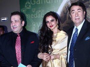 randhir and rajiv kapoor with rekha (4)