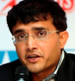 Former Indian cricket captain Sourav Ganguly speaks during a press conference in Calcutta, India, Wednesday, June 3, 2009. Ganguly announced his new role as a commentator for the ICC World Twenty20 scheduled to start from June 5, 2009 in England. (AP Photo/Sucheta Das)