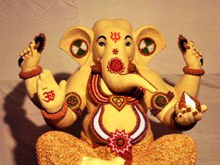 Lord Ganesh at Mandal, Byculla in Mumbai Pic:- Sandeep Mahankal/IANS