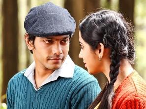 Sathya with Mia George in 'Amara Kaaviyam'