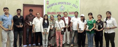Awardees of Dhamra Port Khel Samman at Dhamra Port Premises