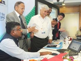 The Union Minister for Communications & Information Technology and Law & Justice, Shri Ravi Shankar Prasad launching the Bharat Domain Name in Devanagari Script, the initiative covers Hindi, Bodo, Dogri, Konkani, Maithili, Marathi, Nepali and Sindhi in Devanagari Script, in New Delhi on August 27, 2014.