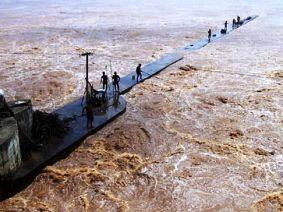 File pic of swelling Mahanadi river