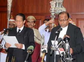 Justice Amitava Roy taking oath as CJ of Odisha High Court ( Pic-Biswaranjan Mishra)