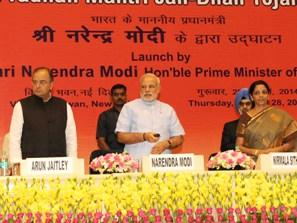 PM Modi launching Jan Dhan Yojana ( PIB pic)