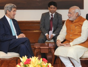 John Kerry meeting PM Modi (PIB pic)