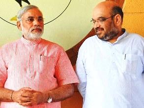 Amit Shah with PNarendra Modi Photo : Mail Today
