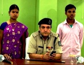 Bhima Sodhi,  Nangi Kunjami with IG YK Jethwa
