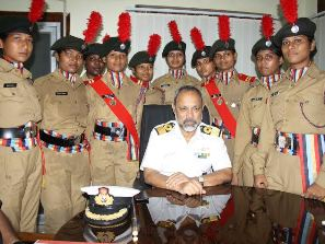 Commodore BK Patnaik at the farewell get-togther