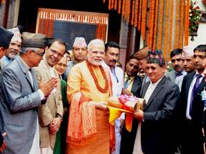 PM Modi at Pashupatinath Temple, Kathmandu