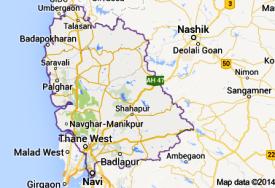 Thane district map Palghar