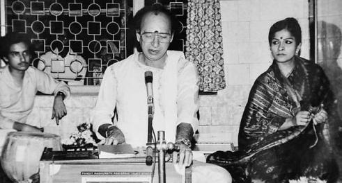 With Sanjukta Panigrahi and son Sabyasachi