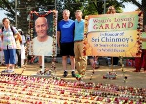 World's longest garland (photo by Bijoy Imhof)