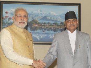 PM Modi with President of Nepal Dr Ram Baran Yadav ( PIB)