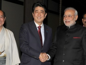 PM Modi with Japanese PM Shinzo Abe