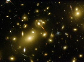 Galaxy Cluster Abell 2218  (source:spacetelescope.org)