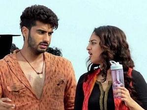 Arjun with Sonakshi on 'Tevar'