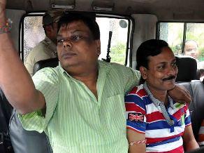 Bikash Swain (L) and Ranjan Dash (R) in CBI custody (Pic-Biswaranjan Mishra)