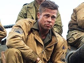 Brad Pitt in 'Fury'