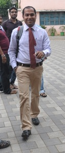 An officer of a private bank coming out after his interrogation at the CBI office (Pic; Biswaranjan Mishra)