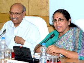 Ms Rashmi Kapoor at the review meeting