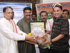Kishore Dwibedi receiving  Rashtriya Gaurab Samman