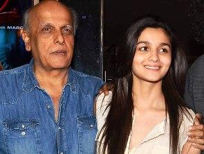 MaheshBhatt with daughter Alia